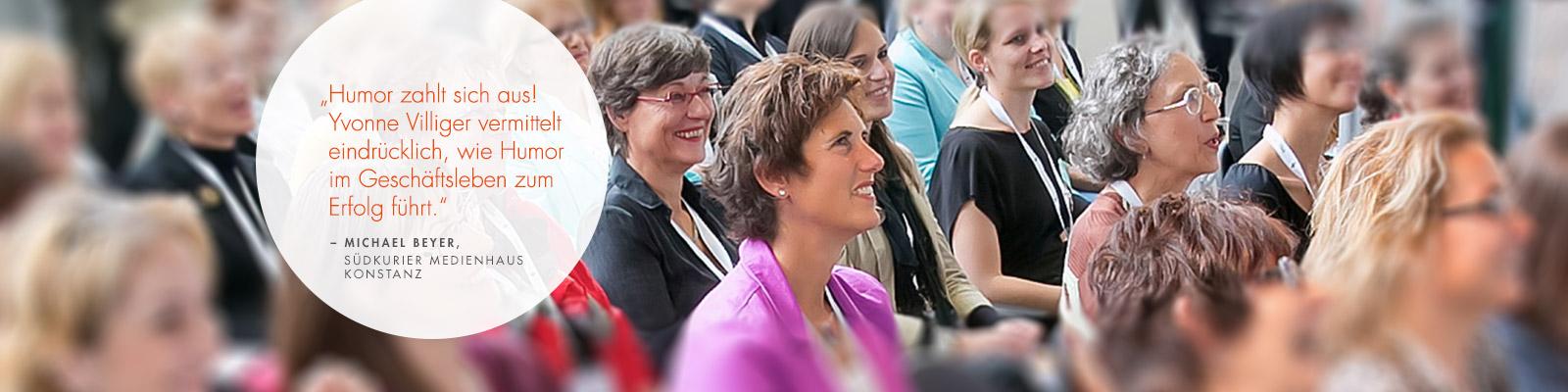 Speakerin Yvonne Villiger fesselt ihr Publikum
